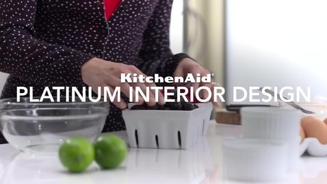 Thumbnail for entry Platinum Interior Design for Built-in Refrigerators - KitchenAid Brand