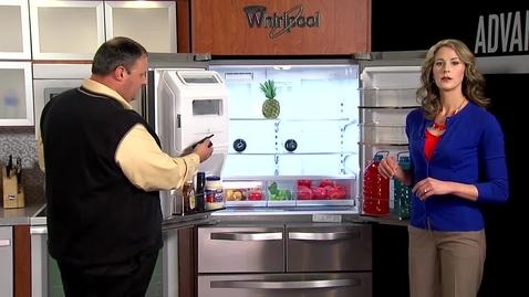 Thumbnail for entry Demonstrating the ease of opening a crisper drawer with the new bottom mounted crisper design