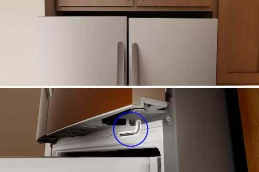 How To Level And Align A Refrigerator Door On A French Door Bottom Mount