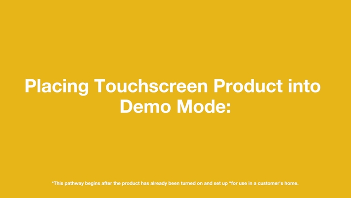 Whirlpool Brand Touchscreen Product Demo Mode