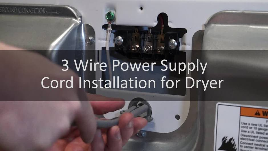 How to Connect a 3-Wire Power Supply Cord for a Dryer - Learn ...
