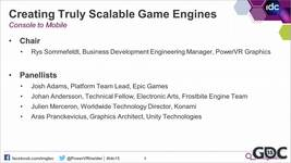 GDC Vault - Creating Truly Scalable Game Engines - Console