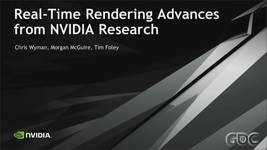 GDC Vault - Real-Time Rendering Advances from NVIDIA