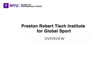 Preston Robert Tisch Institute for Global Sport | SPS