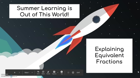 Thumbnail for entry Third Grade Math Week 3 Day 3 Explaining Equivalent Fractions
