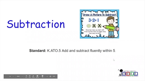 Thumbnail for entry 5K Math Week 4 Day 4 Subtraction