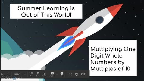 Thumbnail for entry Third Grade Math Week 1 Day 2 Multiplying One Digit Whole Numbers by Multiples of 10