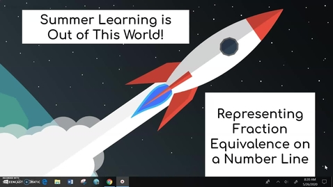 Thumbnail for entry Third Grade Math Week 3 Day 4 Representing Fraction Equivalence on a Number Line