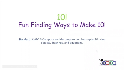 Thumbnail for entry 5K Math Week 3 Day 1 Composing Teen Numbers