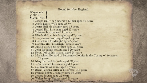 Thumbnail for entry Motivations of Colonists: Puritans to New England