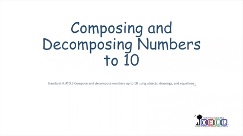 Thumbnail for entry 5K Math Week 3 Day 2 Composing and Decomposing