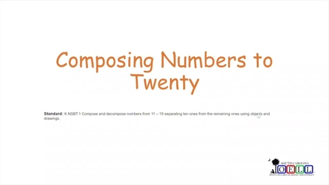 Thumbnail for entry 5K Math Week 4 Day 1 Composing