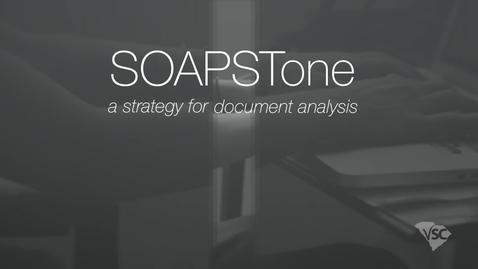 Thumbnail for entry SOAPSTone Analysis