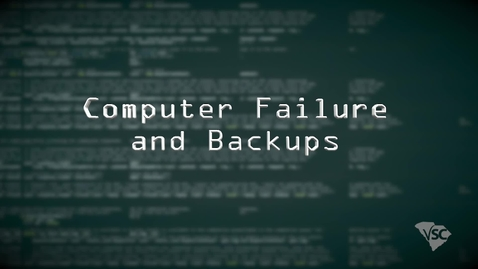 Thumbnail for entry IT Fundamentals-Computer Failure and Backups