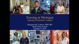 Thumbnail for entry Staff Nurse Forum October 9, 2014