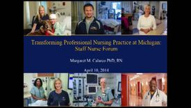 Thumbnail for entry Staff Nurse Forum April 2014, part 1