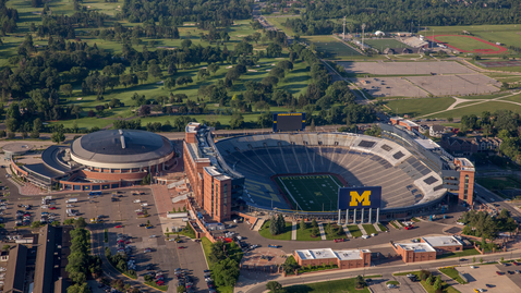 Thumbnail for entry Michigan Stadium Aerial