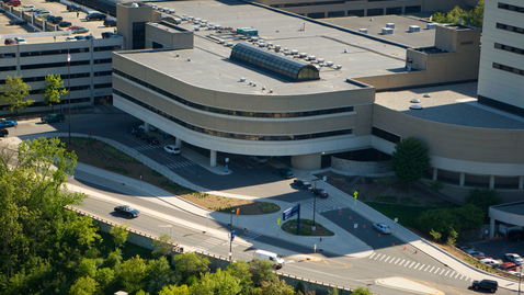 Thumbnail for entry University Hospital-Taubman entrance