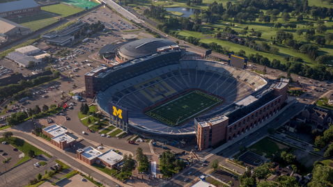Thumbnail for entry Michigan Stadium Aerial