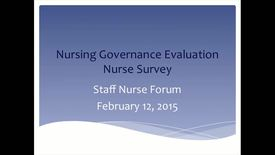 Thumbnail for entry Staff Nurse Forum February 12, 2015