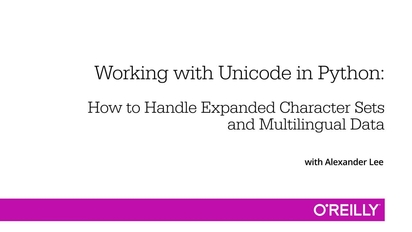 Working with Unicode in Python