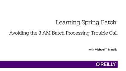 Learning Spring Batch
