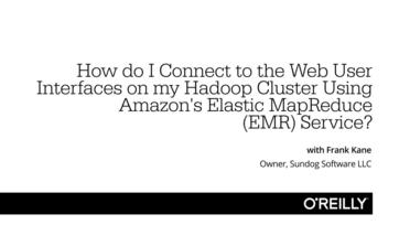 How do I connect to the web user interfaces (UIs) on my Hadoop