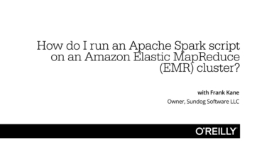 How do I run an Apache Spark script on an Amazon Elastic MapReduce