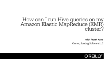 How can I run Hive queries on my Amazon Elastic MapReduce