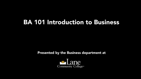 Thumbnail for entry BA101 Sole Proprietorship: Starting Your Own Business, Trina