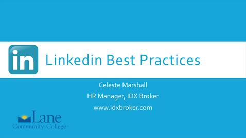 Thumbnail for entry LinkedIn Best Practices 4 - Tech Scene