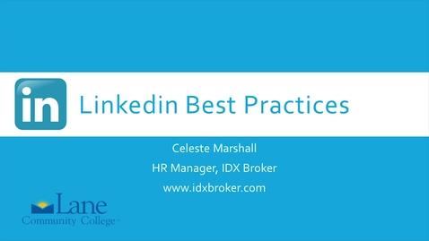 Thumbnail for entry LinkedIn Best Practices 4 - Tech Scene