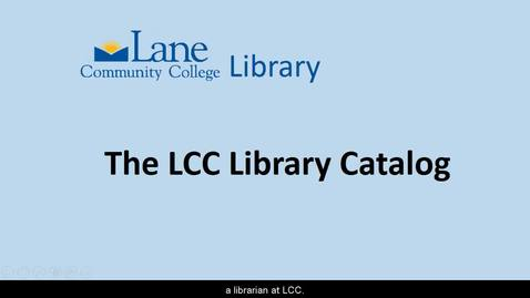 Thumbnail for entry LCCLibraryCatalog