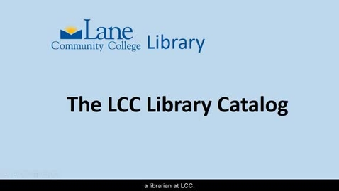 Thumbnail for entry LCC Library Catalog