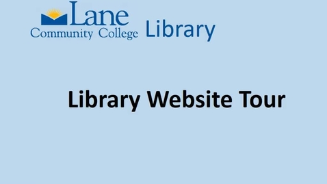 Thumbnail for entry LCCLibraryWebsiteTour