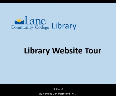 lcc library website tour library
