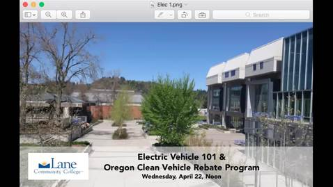 Thumbnail for entry Electric Vehicle 101_Oregon Clean Vehicle Rebate