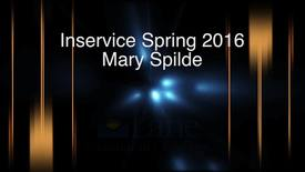 Thumbnail for entry Spring 2016 Inservice - Mary Spilde