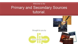 Thumbnail for entry Primary and Secondary Sources