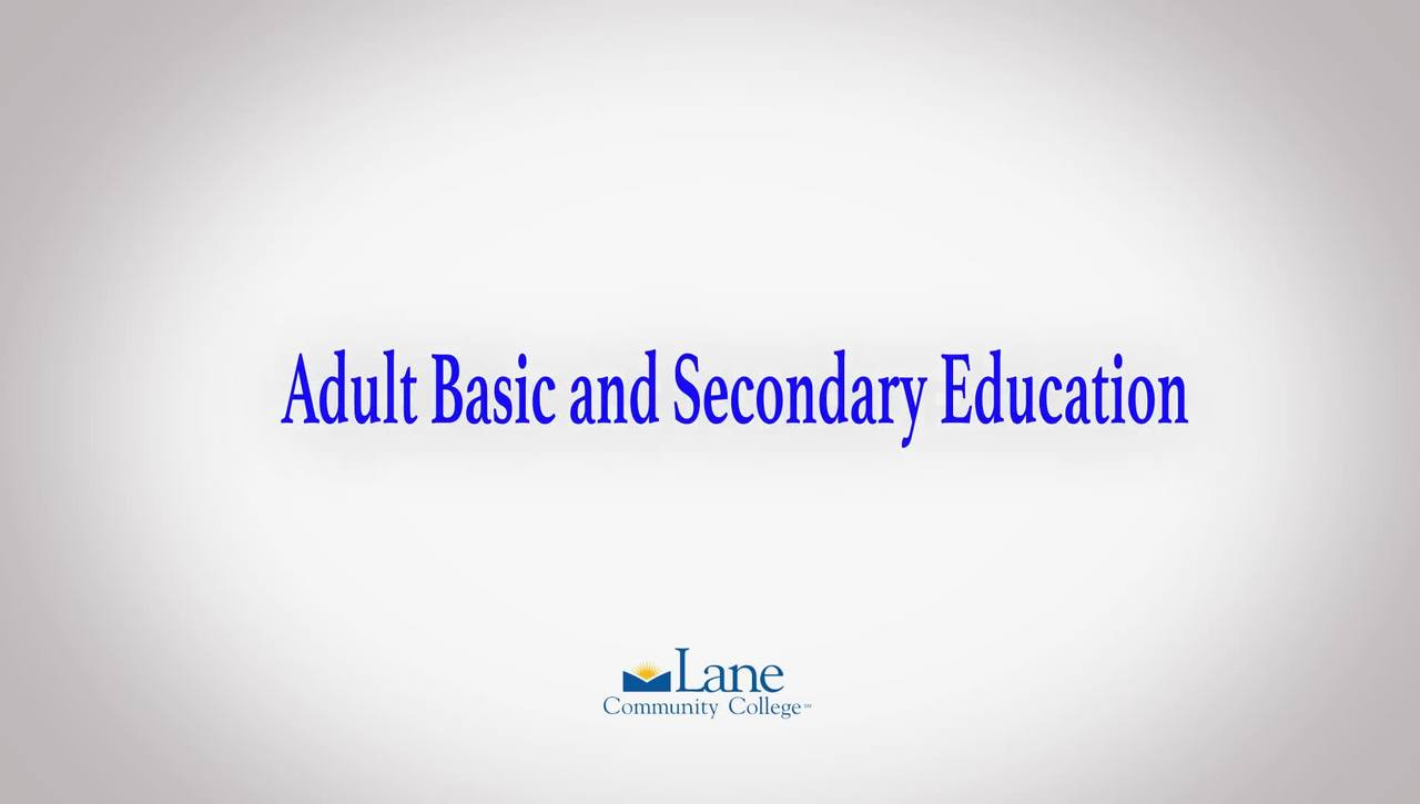 Lane's Adult Basic Secondary Education Program (ABSE)