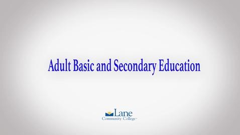 Thumbnail for entry Lane's Adult Basic Secondary Education Program (ABSE)