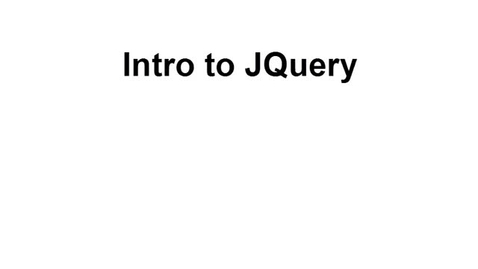 Thumbnail for entry JQuery Intro Part 1