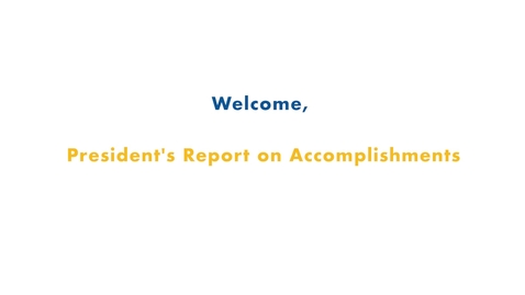 Thumbnail for entry 01 Fall 2019 Inservice - Welcome, President's Report on Accomplishments