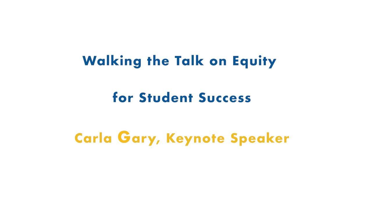 03 Fall 2019 Inservice - Keynote Speaker, Carla Gary