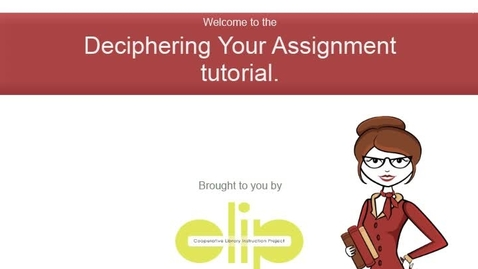 Thumbnail for entry Deciphering Written Assignments
