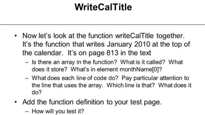 Writing and Testing Part 3 Tutorial 12