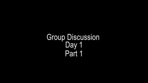 Thumbnail for entry CCPD Day 1 Number 4 - Group discussion part 1