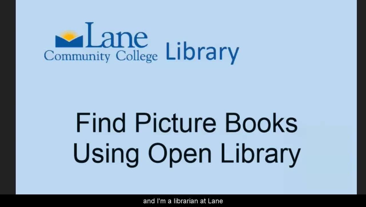 LCCLibraryFindingOnlinePictureBooks