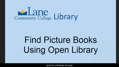 Thumbnail for entry LCCLibraryFindingOnlinePictureBooks