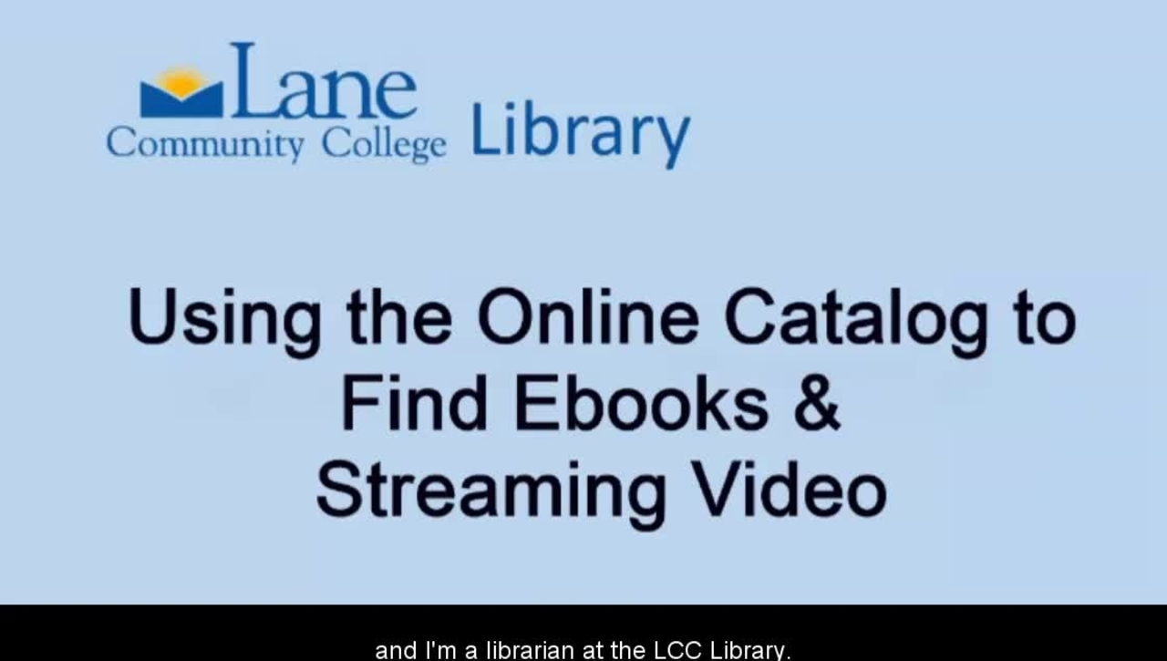 LCC Library Catalog Eresources